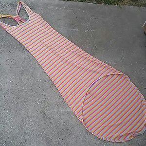 A floor length summer dress